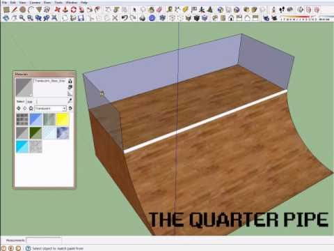 Creating a Skate Park in Sketchup Tutorial 1 - Quarter Pipe