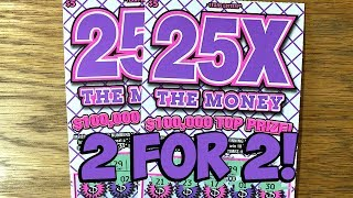 Back to Back! 2X 25X the Money ✦ TEXAS LOTTERY Scratch Off Tickets