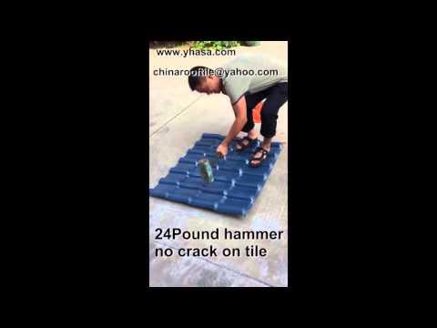 Strong Plastic Roof Tile Test,why choose smart roof tile