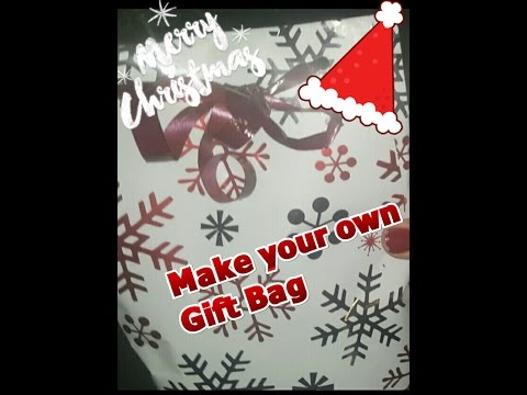 How to make easy Christmas Gift Bags from Wrapping Paper || DIY