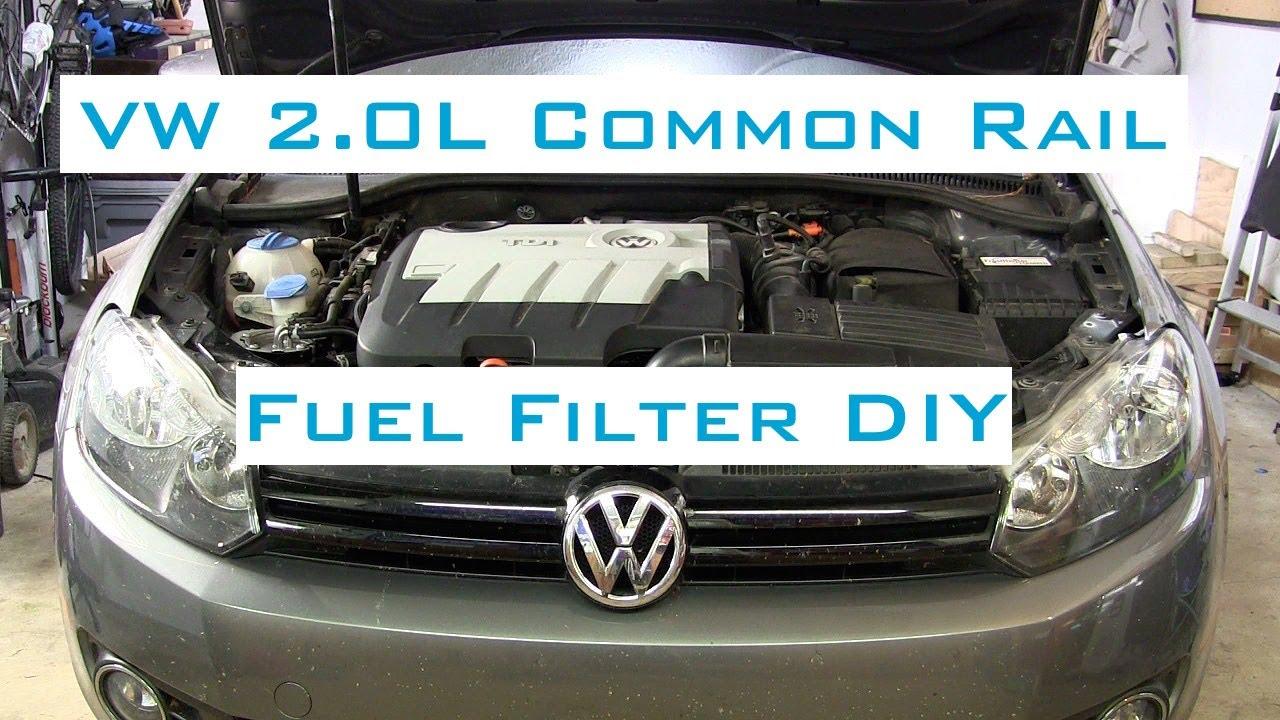VW Golf/Jetta TDI - Fuel Filter DIY w/VCDS - 2009-2014 - YouTubeYouTube