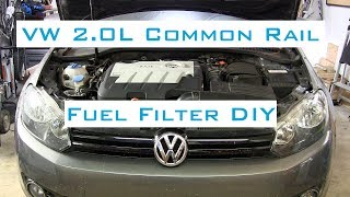 VW Golf/Jetta TDI - Fuel Filter DIY w/VCDS - 2009-2014