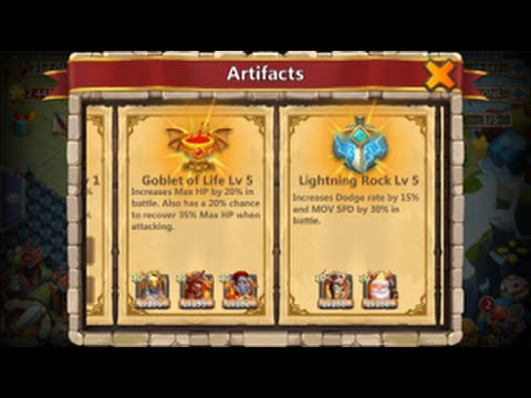 Castle Clash NEW UPDATE Leveling Up ARTIFACTS Plus Beating HBM T