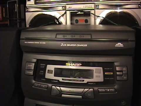 1998 sharp cd c406 stereo system youtube publicscrutiny Images