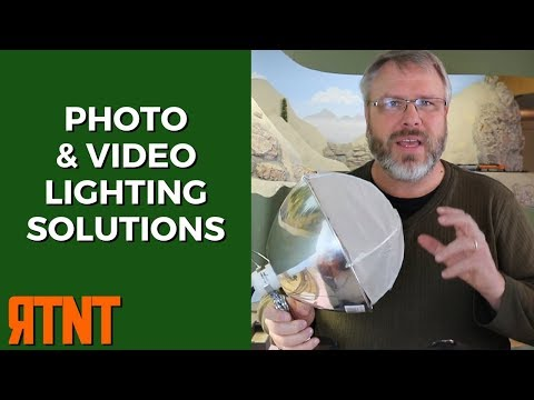 Model Railroad Photography Lighting Solutions on a Budget