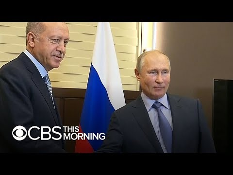 "Turkish president meets Putin after threatening to ""crush"" Kurds in Syria"