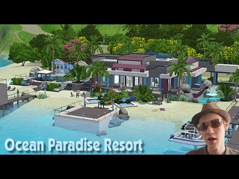 The Sims 3 House building - Ocean Paradise (Resort)
