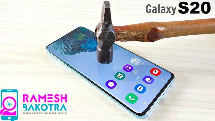 samsung galaxy s20 screen scratch test gorilla glass 6