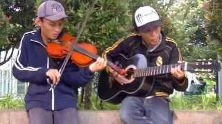 HENDRI DAN RENDI pengamen taman menteng cover canon rock biola instrumental