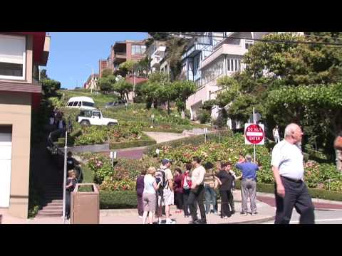 Lombard Street San Francisco Russian Hill Looking Uphill Hairpins