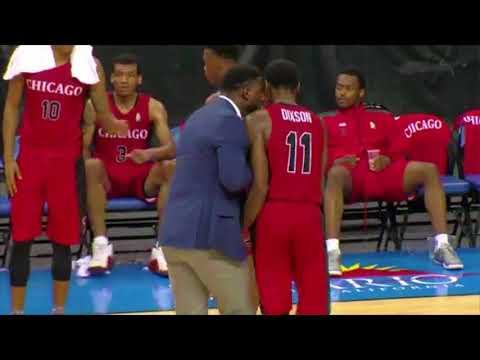 Coach in LaVar Ball's JBA bullies player during a timeout
