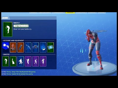 "NEW EMOTE ""WATERWORKS"" WITH 40+ SKINS !"