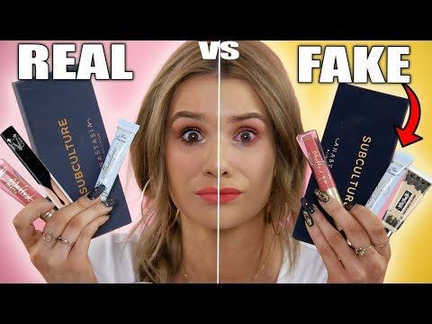TESTING REAL vs FAKE Makeup! WORTH IT or TOSS IT?!