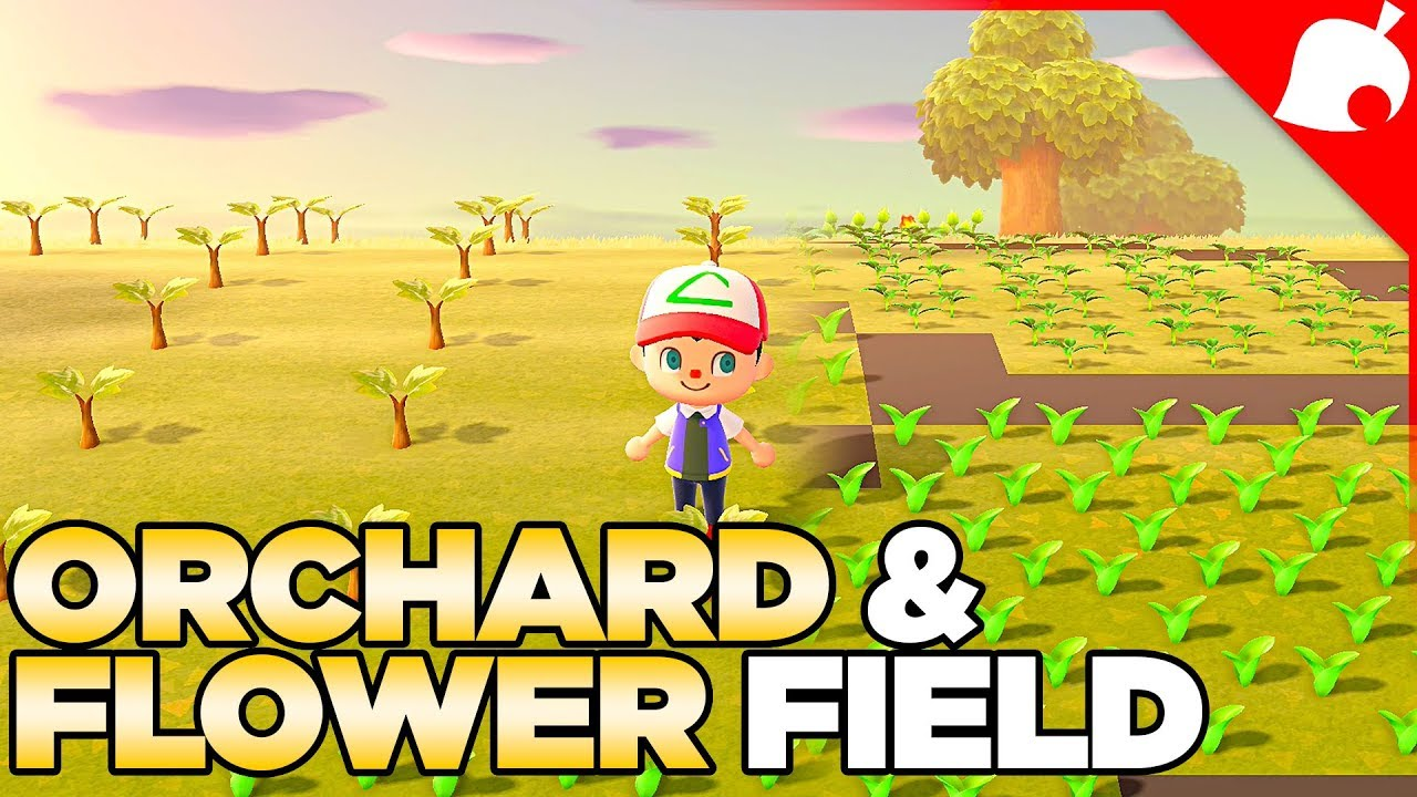 Planting An Orchard Flower Field Animal Crossing New Horizons