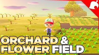 Planting an Orchard & Flower Field - Animal Crossing New Horizons #2