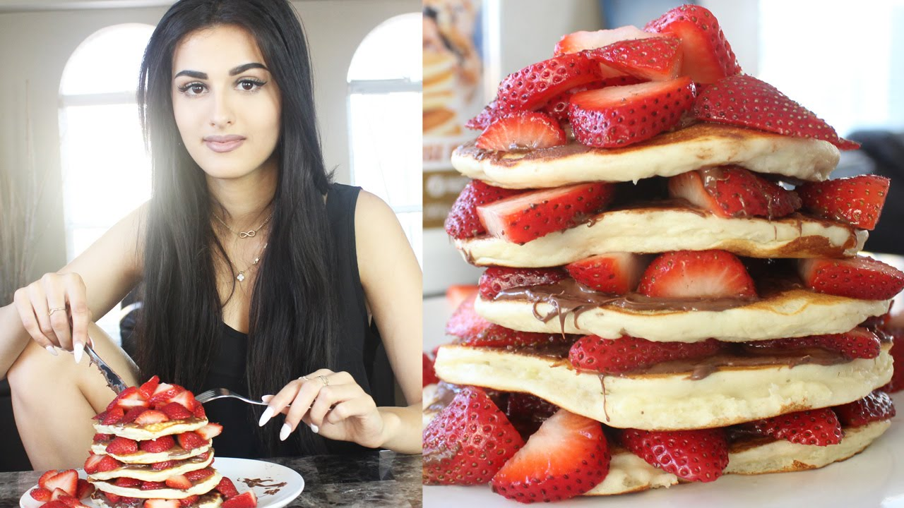 Cooking With Wolf - Nutella Strawberry Protein Pancakes ...