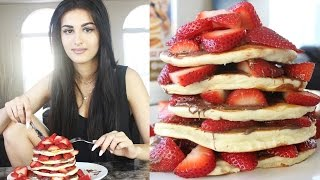 Cooking With Wolf - Nutella Strawberry Protein Pancakes!