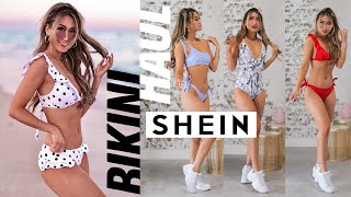 "I try on clothes so that you don't have to. for 15% off your shein order, use my code ""kerina15""links:polka dot bikini: https://bit.ly/2yjop6r ($12/ size s)y..."