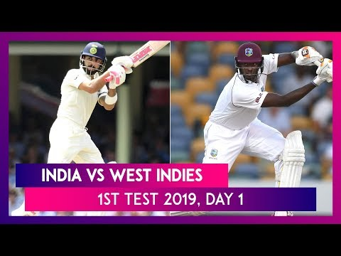 India vs West Indies 1st Test Match 2019 Day 1: Ajinkya Rahane's 81 Bail India Out of Trouble
