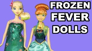 FROZEN FEVER ! ELSA and ANNA toy dolls presentation review