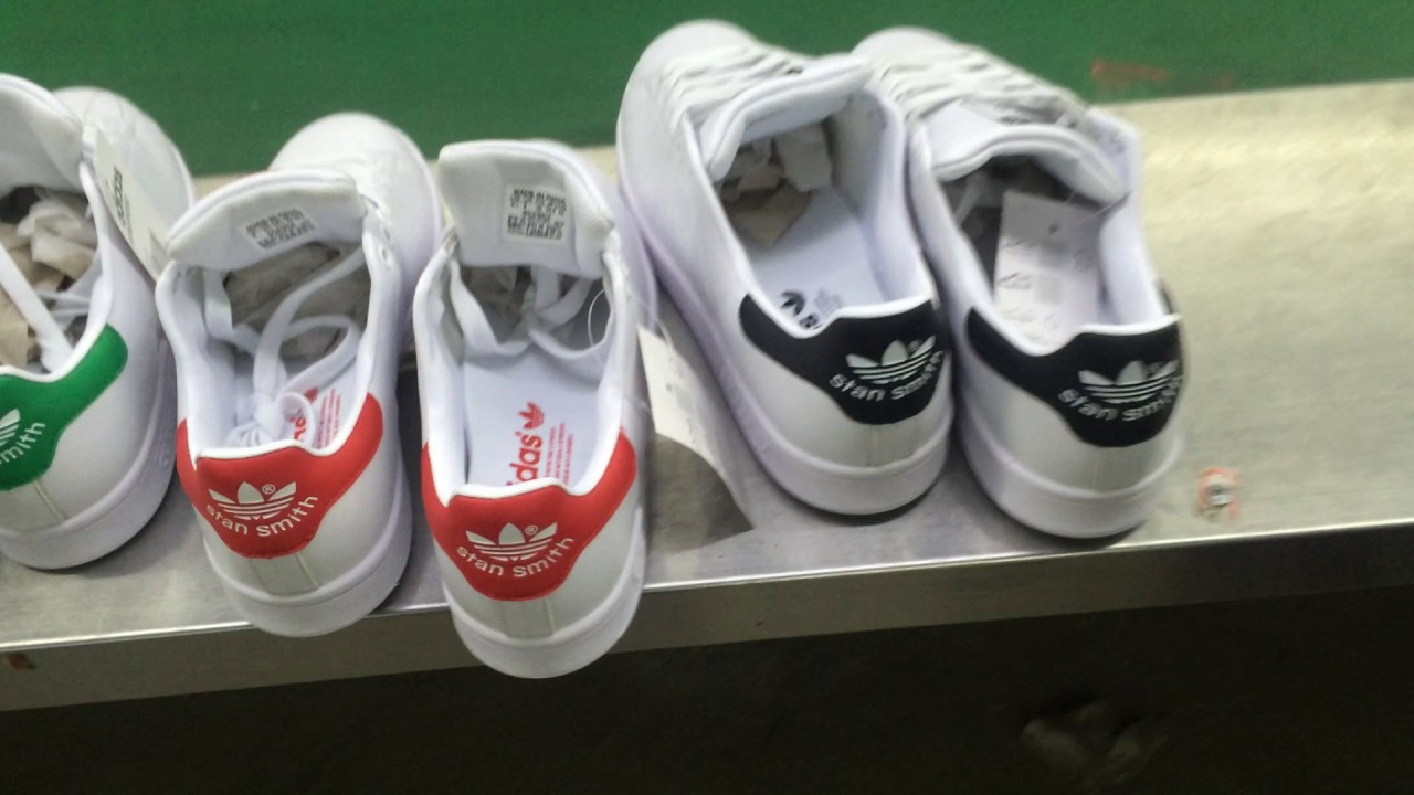 Interactuar detergente malla  Adidas Stan Smith production line from China factory - YouTube