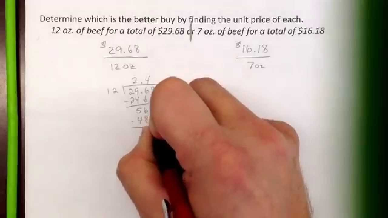 small resolution of Finding the better buy - YouTube