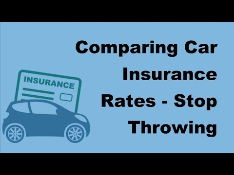 Comparing Car Insurance Rates | Stop Throwing Money Away -  2017 Compare Car Insurance