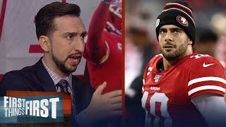 If Mahomes & Garoppolo were even, 49ers would be favorites — Nick Wright | NFL | FIRST THINGS FIRST