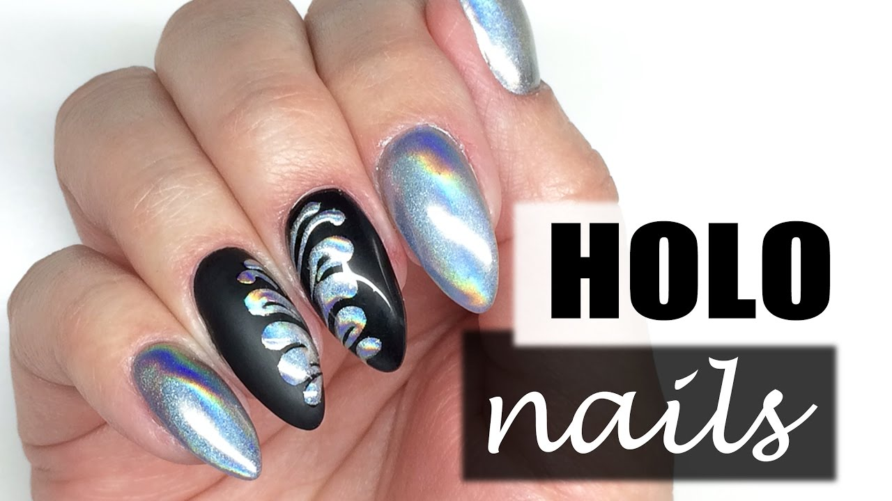 How To Holo Nails Holographic Nail Art Holograficzne