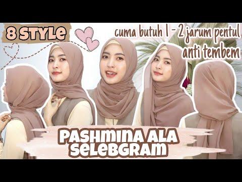 TUTORIAL HIJAB PASHMINA SIMPLE ALA SELEBGRAM KEKINIAN | Pashmina untuk sehari-hari dan acara formal - YouTube