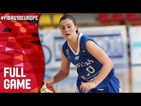 Greece v Iceland - Live - FIBA U16 Women's European Championship 2017 - DIV B