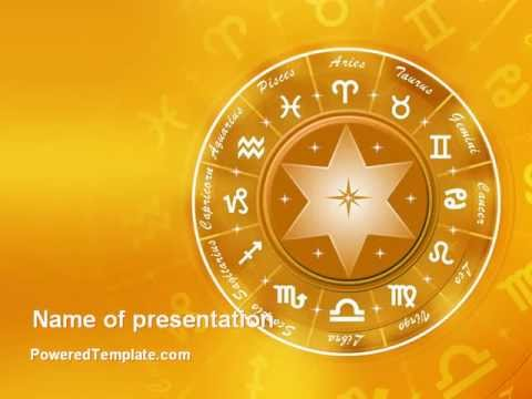 Zodiac powerpoint template by poweredtemplate youtube toneelgroepblik Gallery