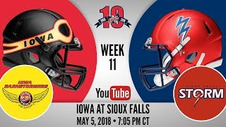 Week 11 | Iowa Barnstormers at Sioux Falls Storm