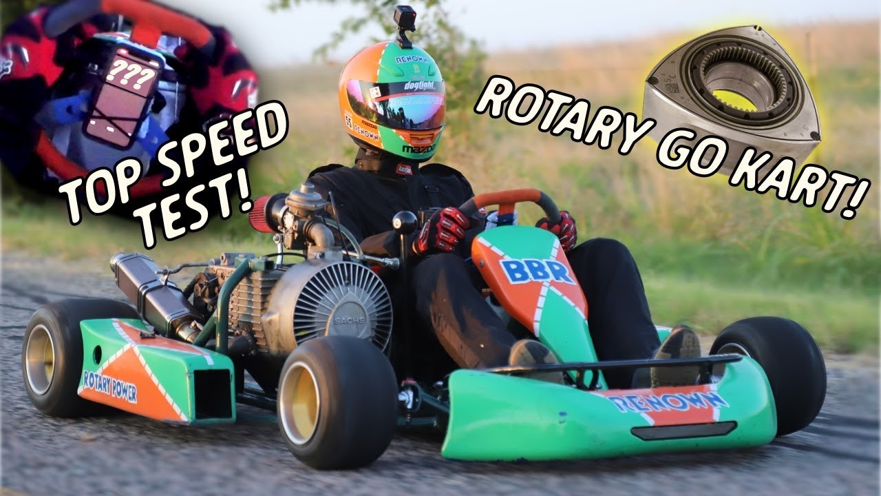 Rotary Shifter Go Kart TOP SPEED! | Rotary Motorcycle Kart Ep 8
