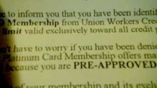 union workers credit services scam