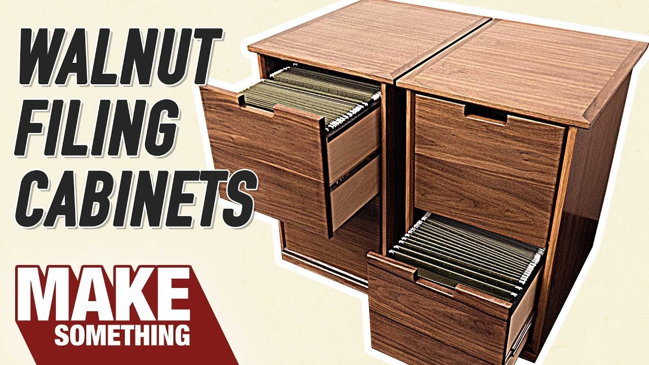 How To Make A Filing Cabinet Easy Woodworking Project Youtube