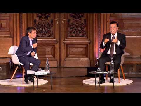 Cité de la réussite 2014 - Carlos Ghosn  / David Pujadas