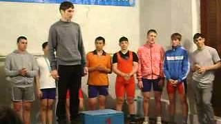Награждение, вторая группа по тяжелой атлетике Тайынша