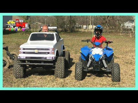 RACE Mini Monster Truck and Polaris 4 Wheeler Outlaw 110
