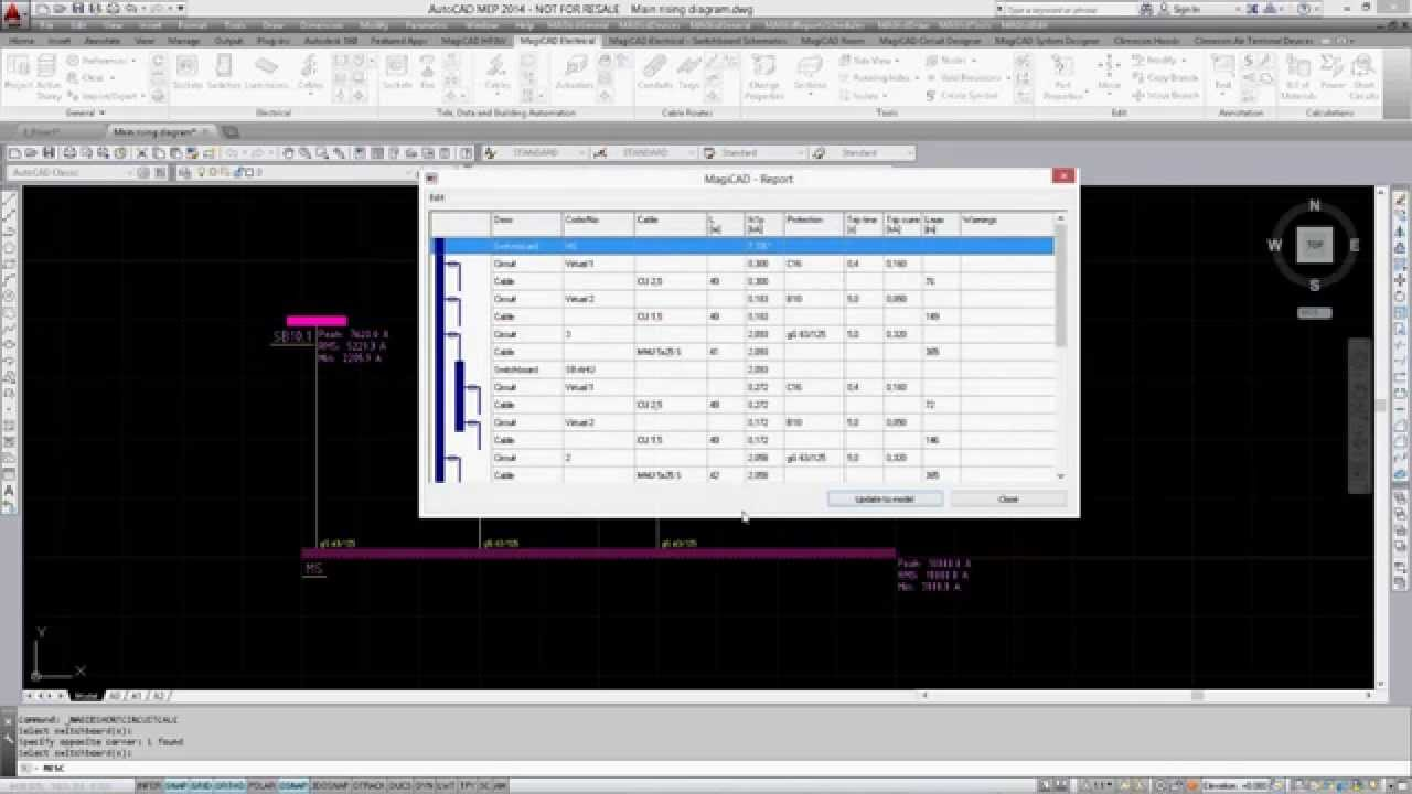 MagiCAD 2014.11 for AutoCAD: Main riser diagrams for electrical ...