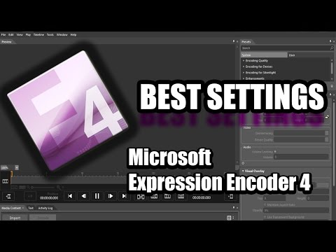 EPIC!!!! Microsoft Expression Encoder 4 BEST SETTINGS