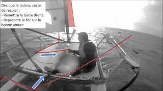 Virement de bord par gros temps en catamaran