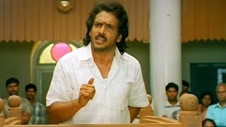 Upendra standing in the court facing charges of cheating four beautiful women starts with Brinda