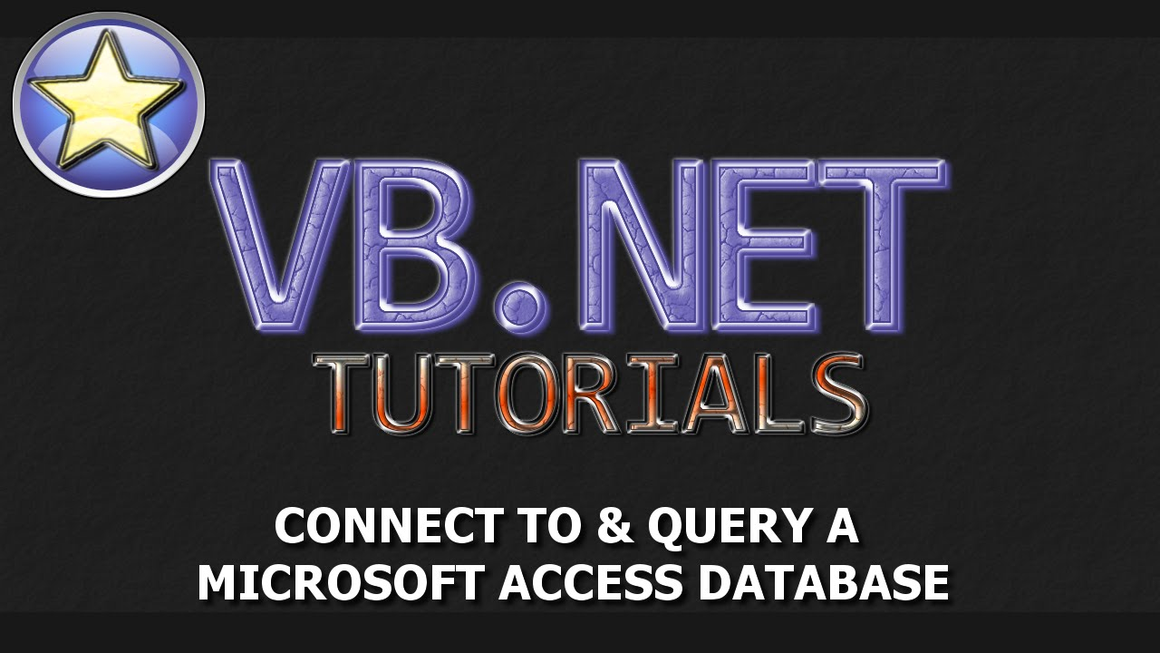 Vb. Net ms access database tutorial 3 # getting the number of rows.