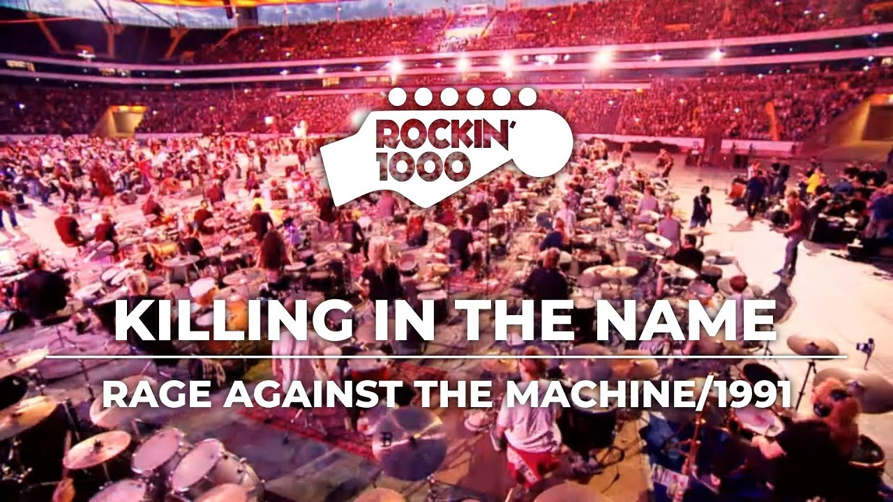"Resultado de imagem para Rockin' 1000 divulga vídeo ao vivo de ""Killing In The Name"" do Rage Against The Machine"