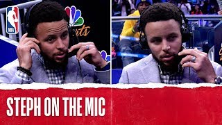 Steph Curry Joins The Broadcast!