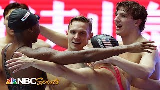 Team USA sets World Record in mixed 4x100m freestyle relay   NBC Sports