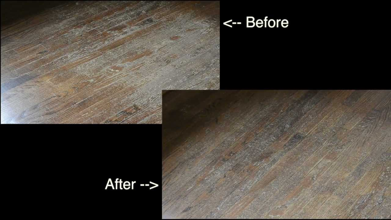 Before And After Using Varathane Wood Floor Restoring