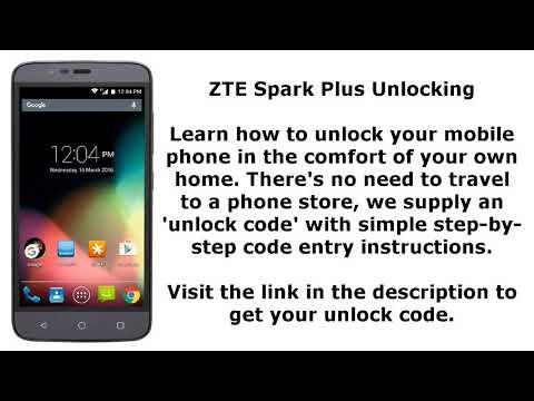 Unlock ZTE Spark Plus - SIM Network Unlock PIN - YouTube