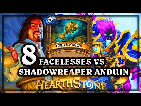 8 Facelesses VS Shadowreaper Anduin ?? ~ Kobolds and Catacombs ~ Hearthstone Heroes of Warcraft thumbnail